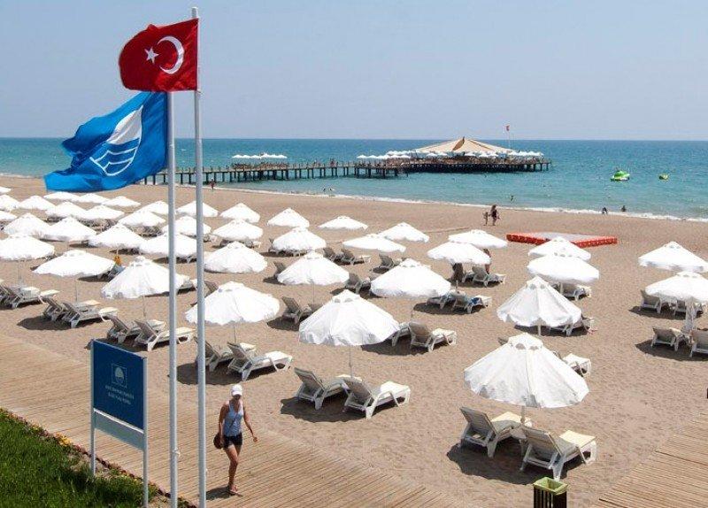 Una playa en Belek, Turquía.