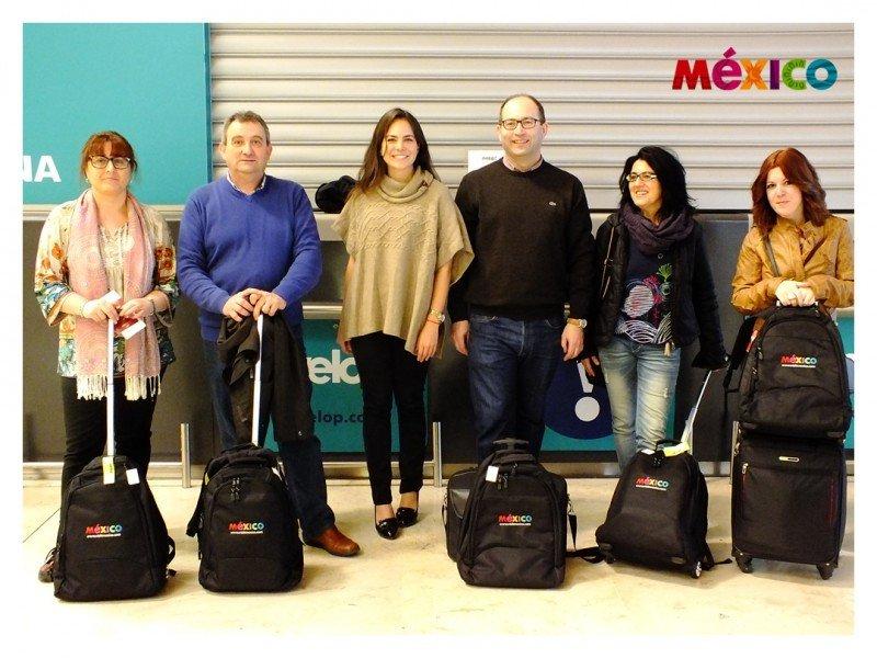 Los participantes en el viaje, profesionales del Grupo Qualitas, Madoc Viajes, Viajes Auria, Alandrina Tours y Vía Augusta Viatges, acompañados de Mireya Gil, directora adjunta para Madrid del CPTM. La organización invitó a otros cinco agentes que no han podido viajar.