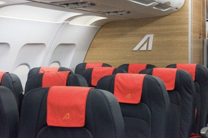 Los nuevos asientos de la clase Economy de Alitalia.