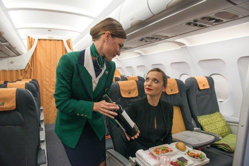 La nueva cabina Business de Alitalia.