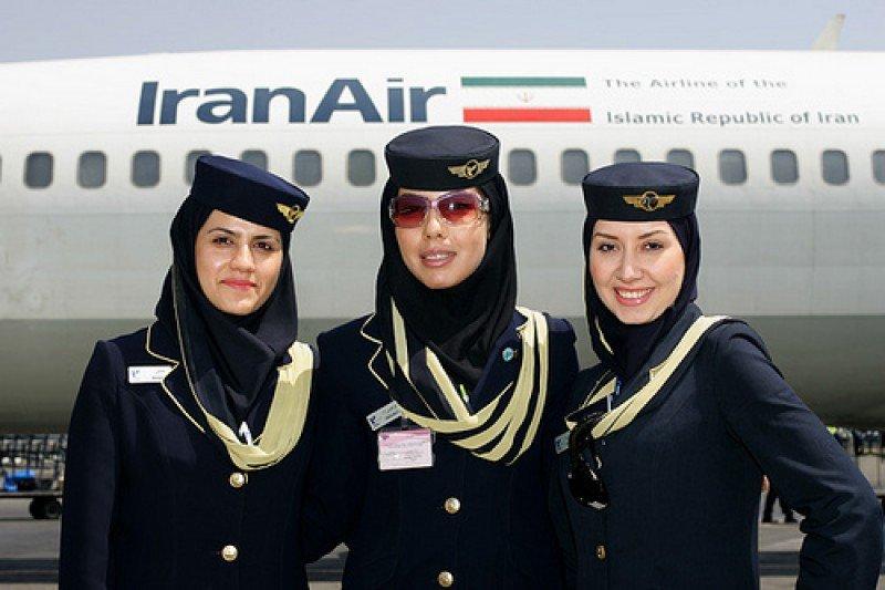 Azafatas de la compañía Iran Air
