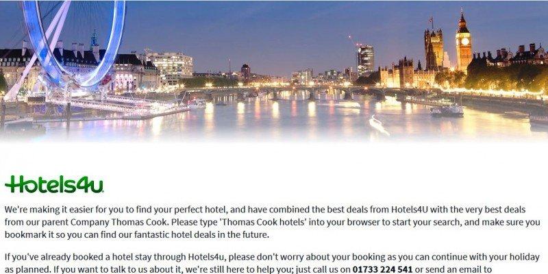 Thomas Cook elimina su banco de camas Hotels4U