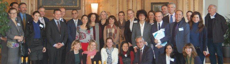 Representantes de las diversas organizaciones que han firmado el manifiesto de apoyo al turismo en la Unión Europea.
