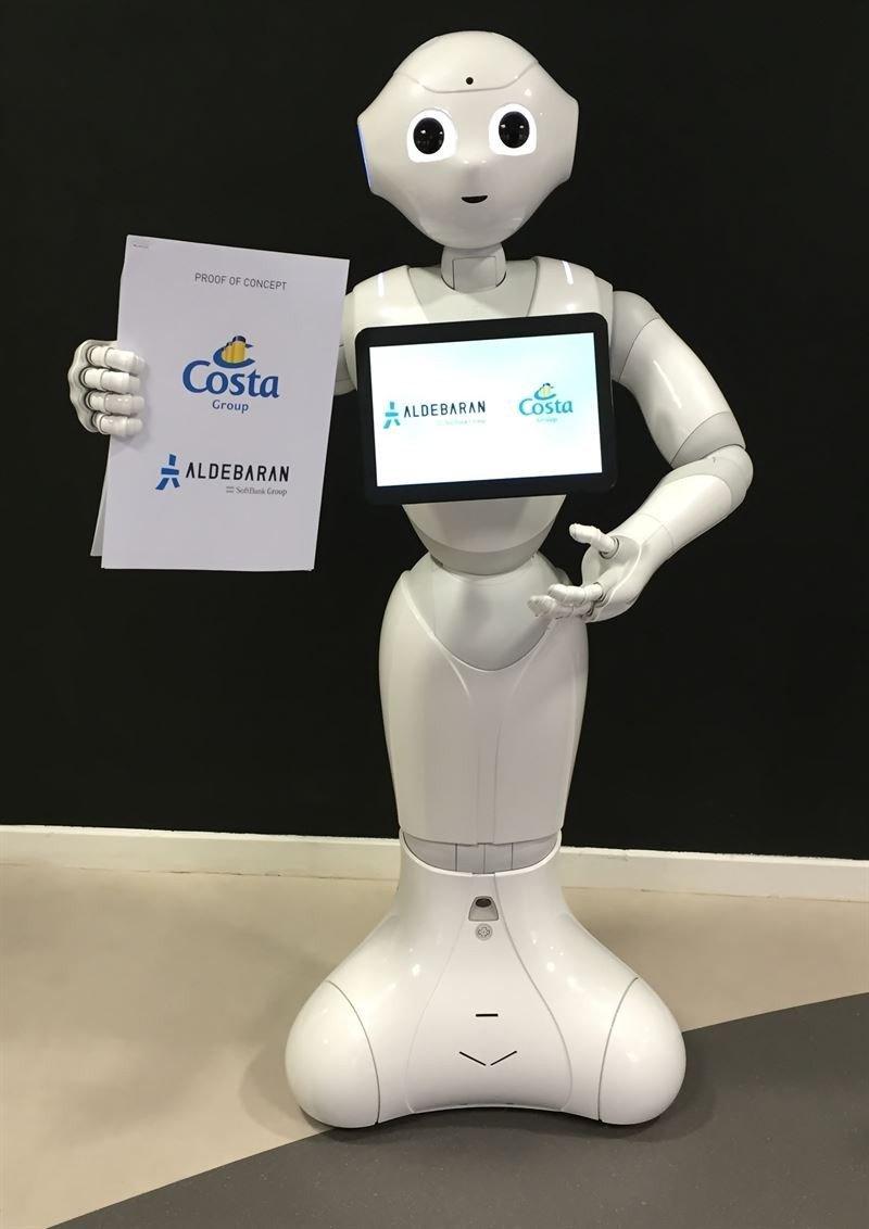 Costa Cruceros incorporará robots a su tripulación en 2016