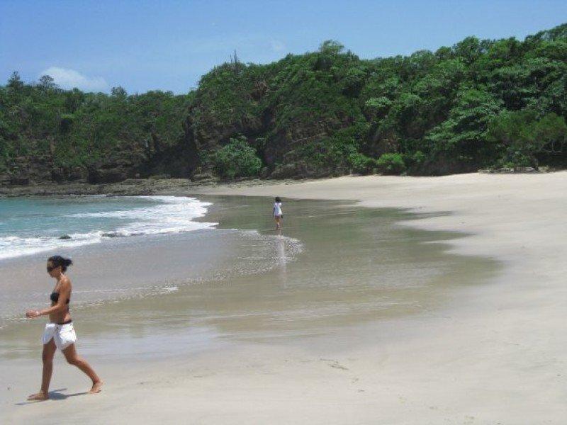 Una playa de Nicaragua.