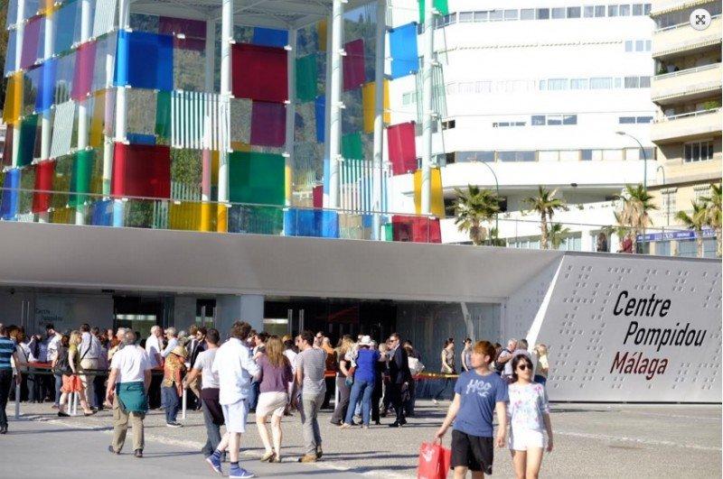 El Centro Pompidou de Málaga. Foto: Carlos Criado, Ayuntamiento de Málaga.