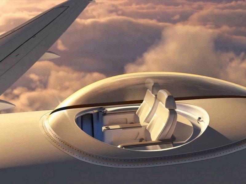 Un mirador a 30.000 pies altura para el techo de los aviones (vídeo)