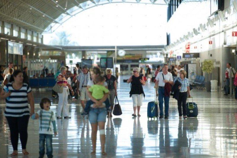 Pasajeros en el aeropuerto de Fuerteventura.