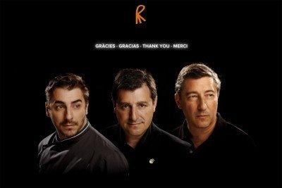 Los hermanos Joan, Josep y Jordi Roca.