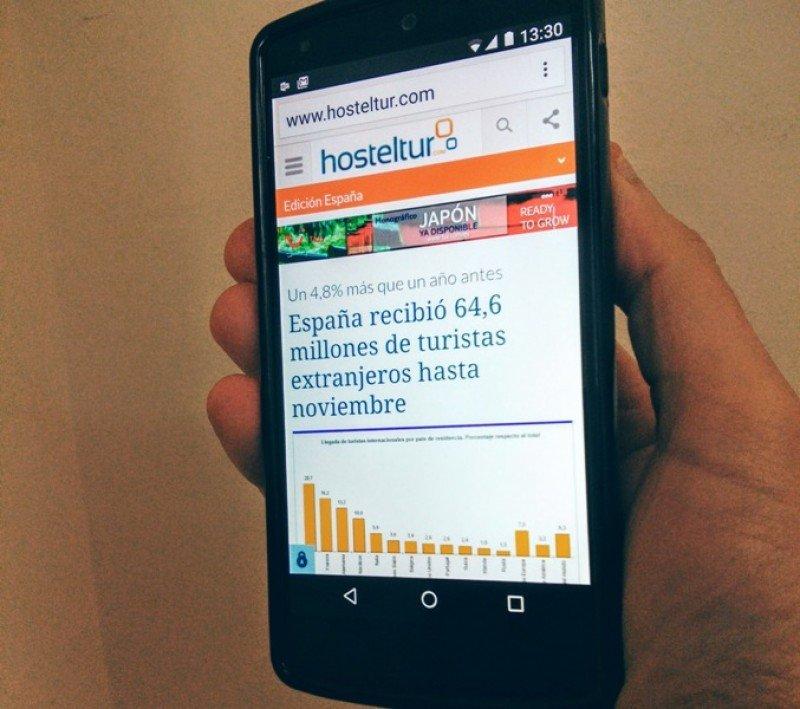 Las noticias de HOSTELTUR se pueden leer con comodidad en todos los dispositivos móviles, ordenadores de sobremesa y portátiles gracias al diseño Responsive de nuestra web, que adapta automáticamente los contenidos a cualquier tipo de pantalla.