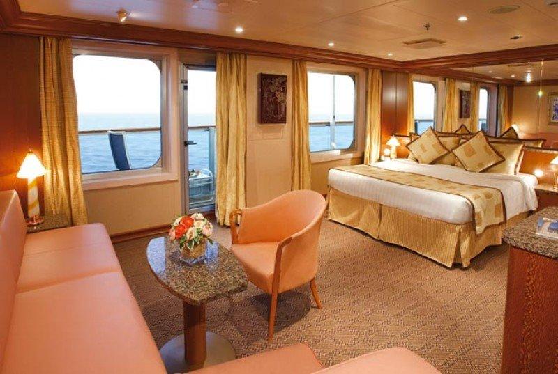 Camarote del Costa Serena, situado por la compañía en Asia.