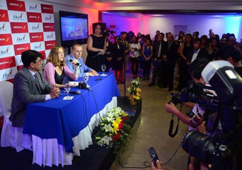 Anuncio del acuerdo entre Iberia y BOA. Foto: Los Tiempos.