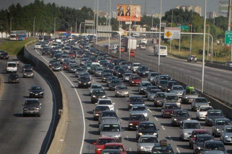 Más de 2.300 vehículos por hora circularon el sábado hacia la Costa Atlántica.