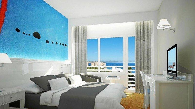 El hotel Joan Miró Museum cuenta con 97 habitaciones inspiradas en la obra del artista.