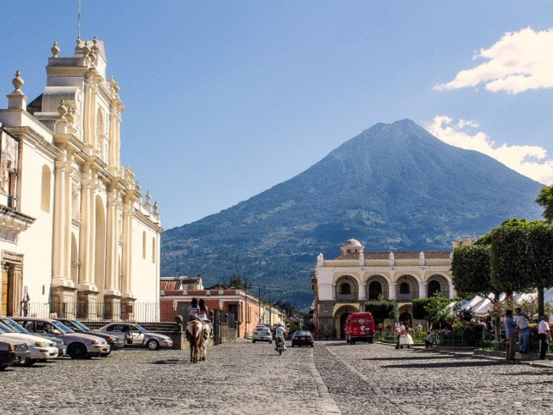 La ciudad de Antigua es el destino más visitado en Guatemala.