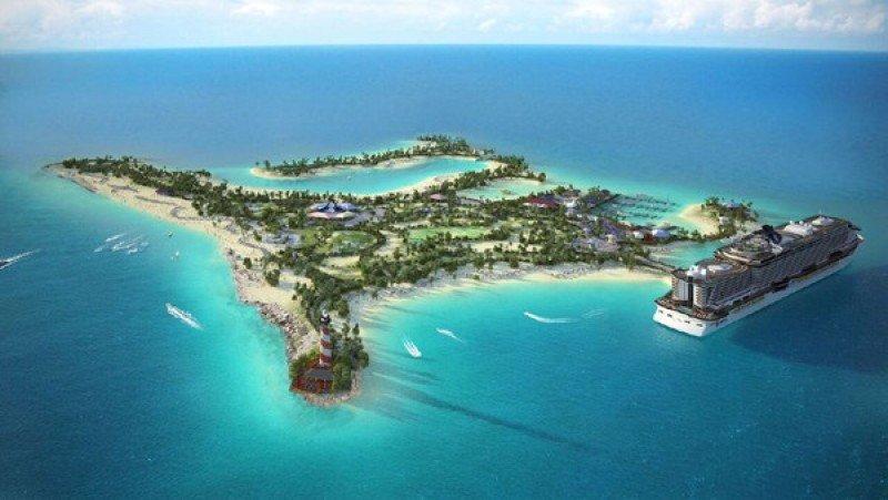 Proyecto de la isla privada de la compañía de cruceros MSC.