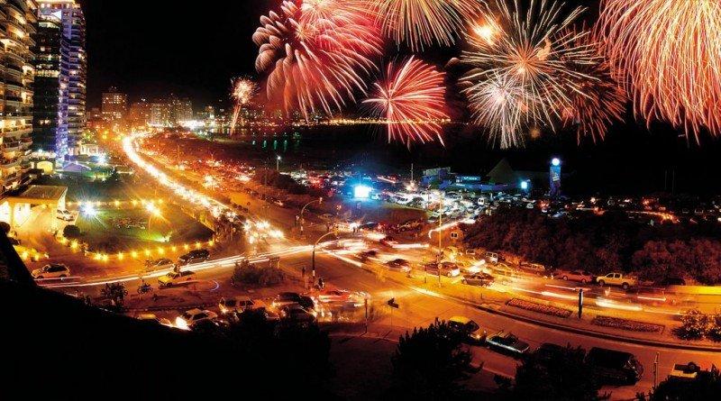 Festejos de Año Nuevo en Punta del Este.