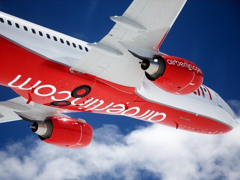 airberlin redujo su tráfico un 4,6% en 2015 aunque recortó aún más la capacidad
