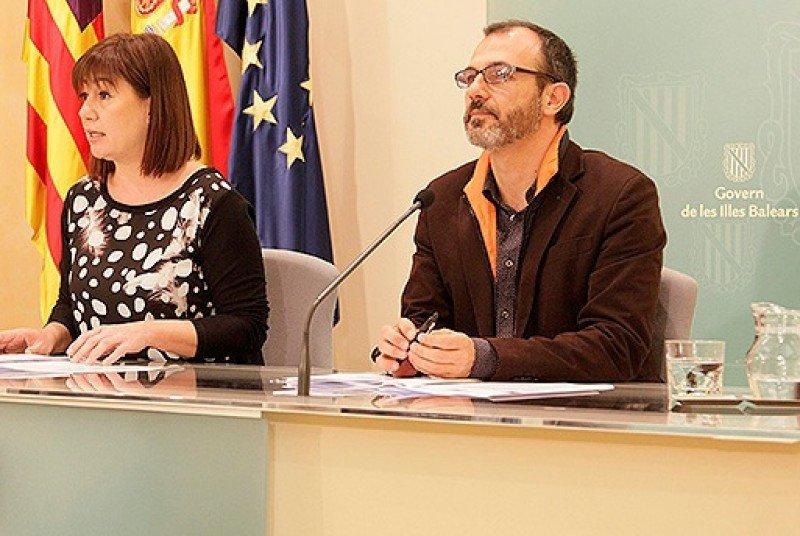 La presidenta de Baleares, Francina Armengol, y el vicepresidente, Biel Barceló.