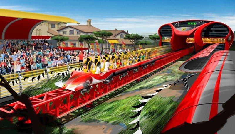 Una de las nuevas atracciones de Ferrari Land.