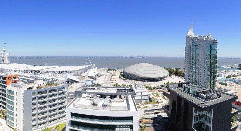 Vistas desde el Tryp Lisboa Oriente.