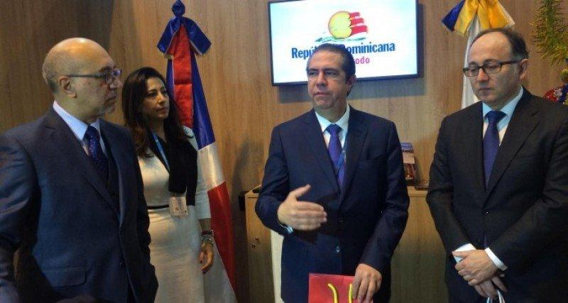 El ministro de Turismo de la República Dominicana, Francisco Javier García y Luis Gallego, presidente de Iberia.
