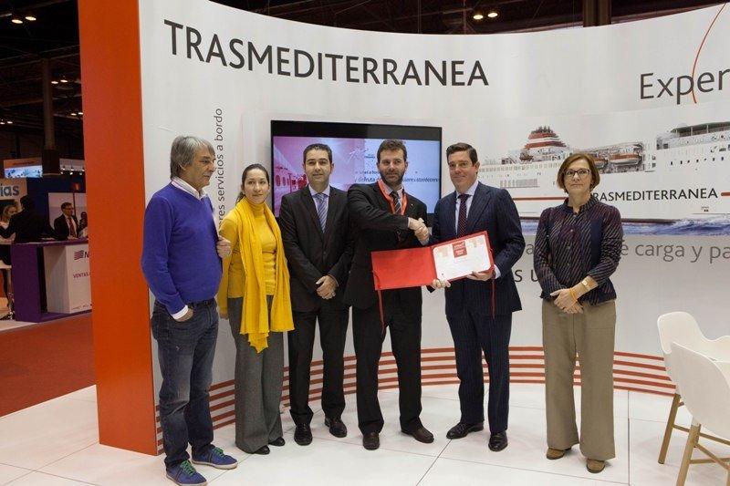 Entrega del premio a Trasmediterránea.