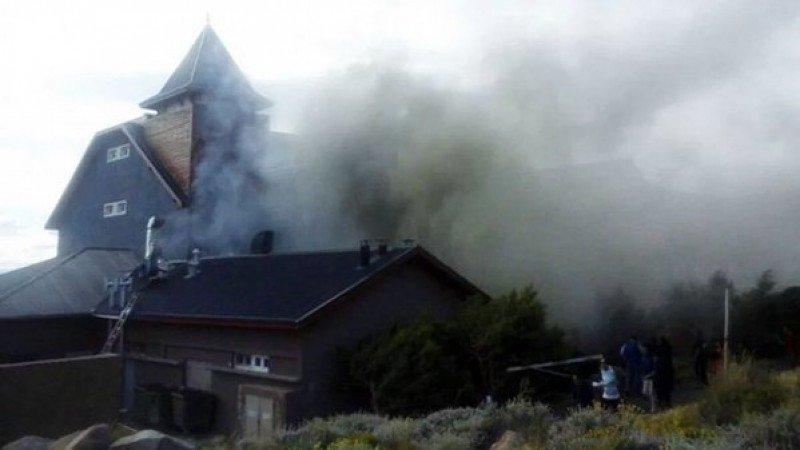 Principio de incendio en Alto Calafate, el hotel de Cristina Fernández de Kirchner (Foto: Ahora Calafate).