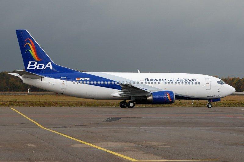 Boliviana de Aviación incrementó 32% sus pasajeros y 8% sus ingresos en 2015