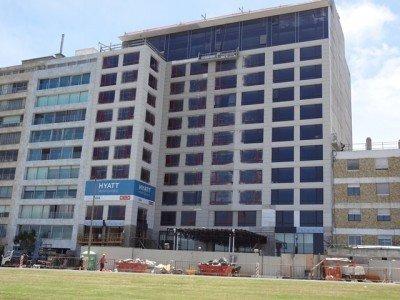 Hyatt Centric Montevideo en sus últimas etapas de construcción, una inversión de US$ 50 millones.