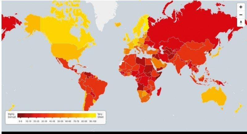 Uruguay y Chile entre los 25 países menos corruptos