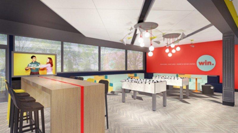 En el lobby, ahora llamado The Hive, se habilitará una zona de juegos para que los clientes puedan interactuar.
