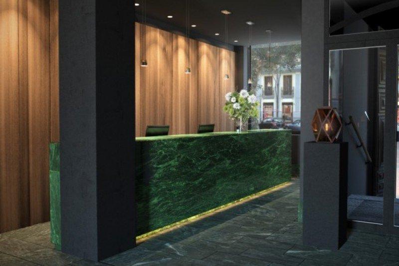 La recepción del segundo hotel de Marugal en Madrid.