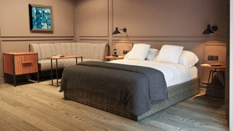 Una de las 67 habitaciones del nuevo hotel boutique.
