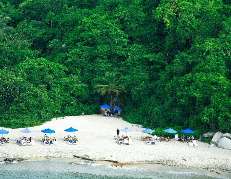 Playa tropical.