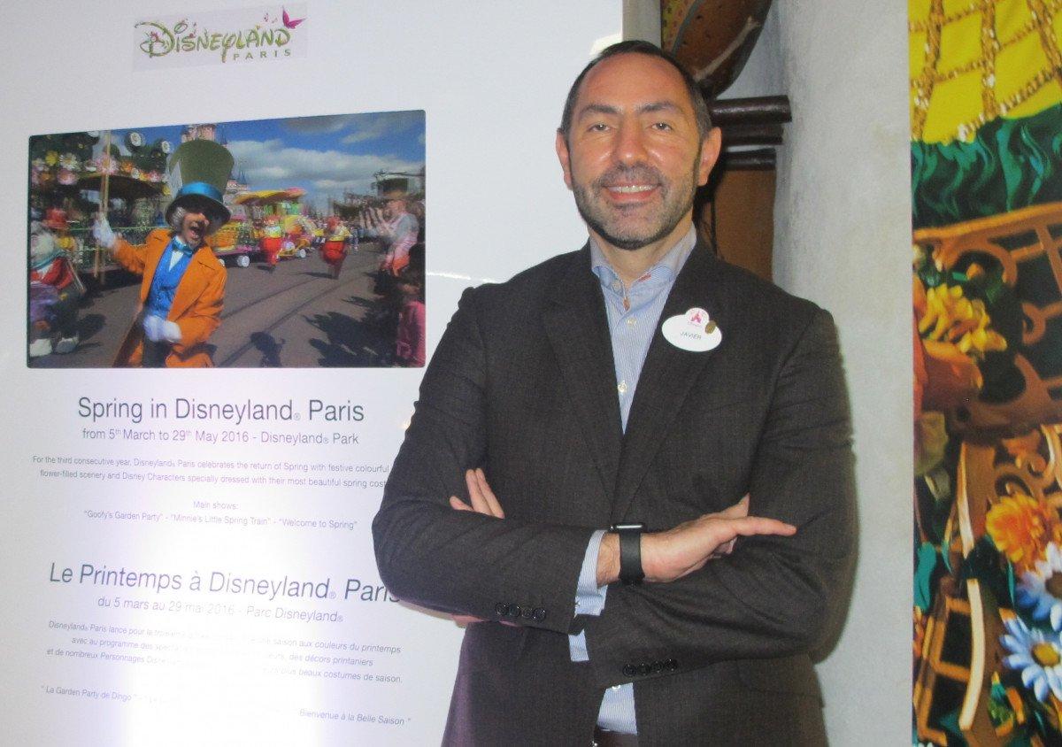 Javier Moreno, en Disneyland París, donde presentó el martes las últimas novedades del parque.