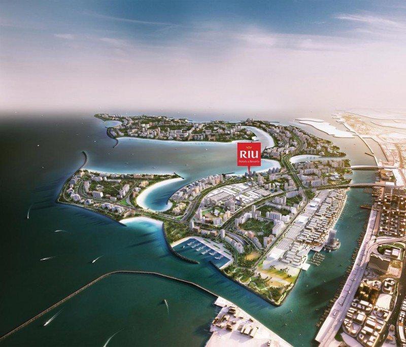 Ubicación del hotel de Riu en el proyecto de las Islas Deira, que sumarán 40 kilómetros, 21 de ellos en primera línea de playa.
