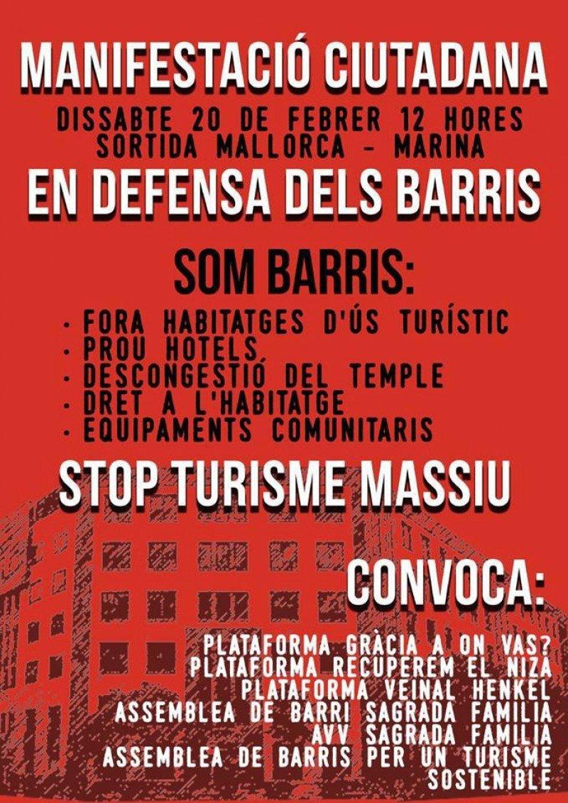Cartel con la convocatoria de la manifestación.