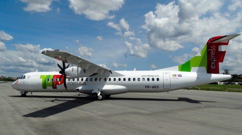 Primer ATR72-600 de TAP Express (Foto: Gustavo Henrique Braga).