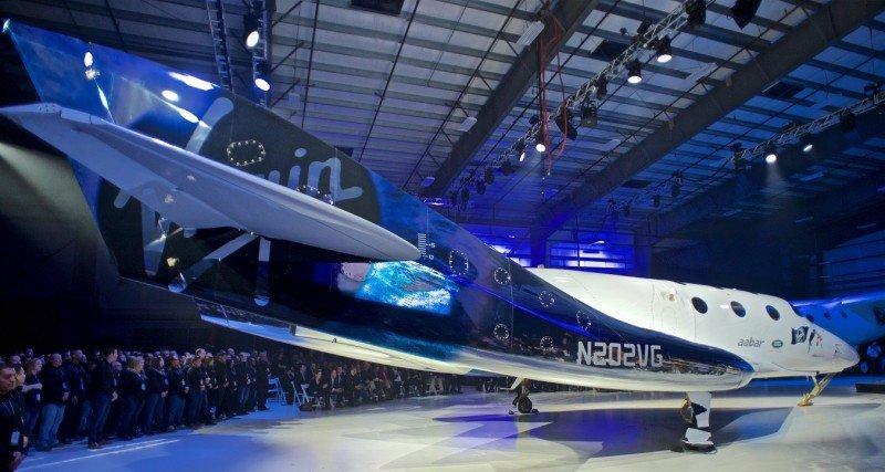 El nuevo SpaceShipTwo, Unity VVS, de Virgin Galactic.