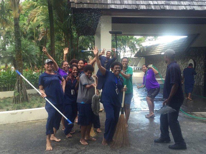 Una de las imágenes colgadas en Facebook por Visit Fiji.