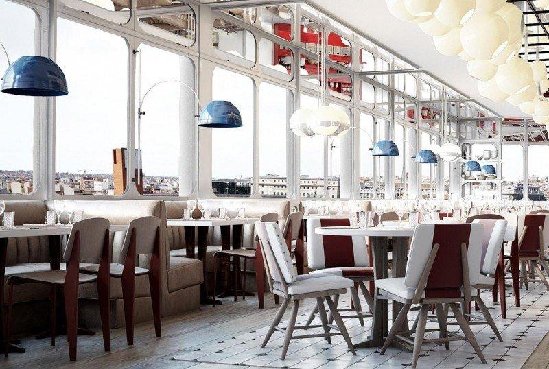 El desayunador se ubicará en el ático para poder disfrutar de la primera comida del día con vistas.