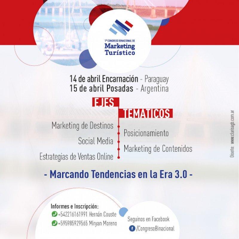 Preparan 1º Congreso Binacional de Marketing Turístico en Argentina y Paraguay