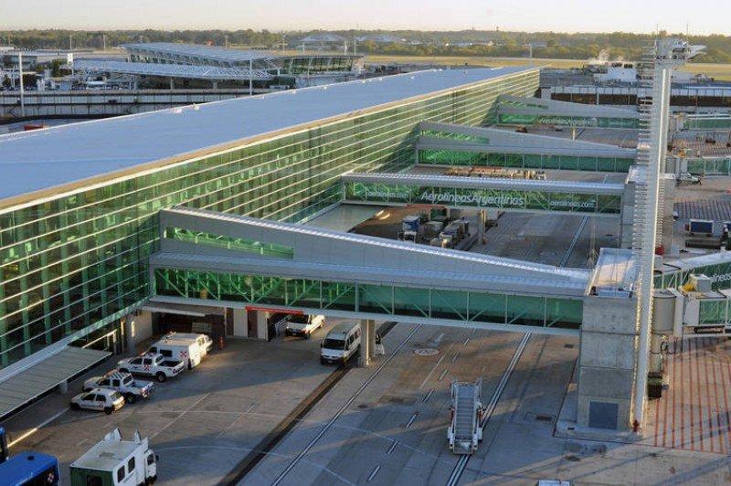 Terminal B de Ezeiza.