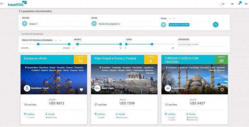 Plataforma online centraliza oferta de paquetes de operadores de Argentina.