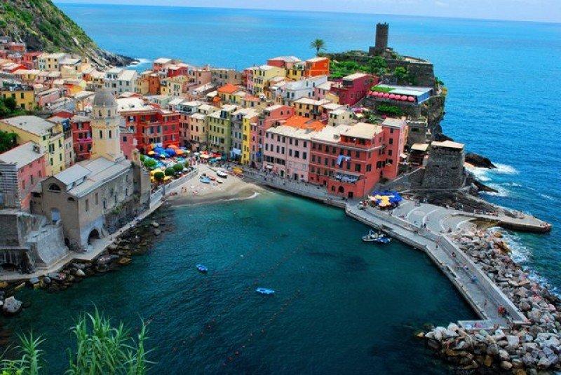 Vernazza, uno de los pueblos de la región de Cinque Terre.