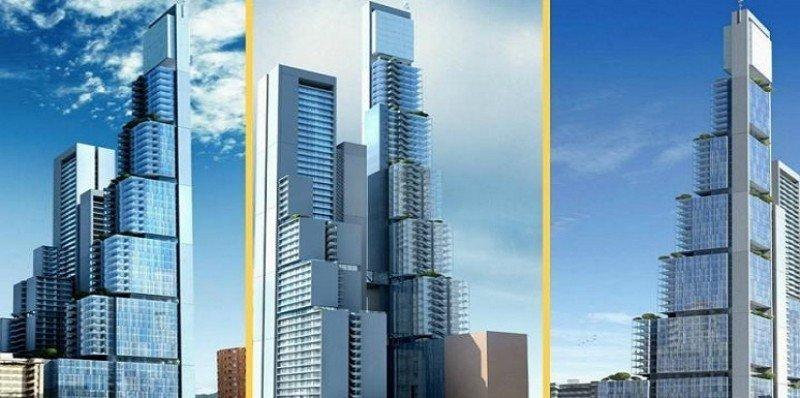 Proyecto de la torre que está siendo construida en Bogotá y que albergará el hotel en 44 de sus 66 plantas.