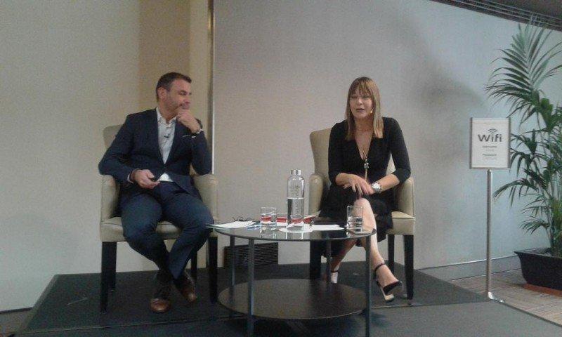 José Miguel Moreno y Susanna Mander, en el Meliá Castilla durante la presentación del programa EcoTouch.