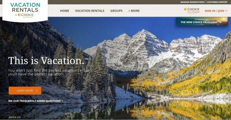 Choice Hotels lanza su propia división de alquiler vacacional