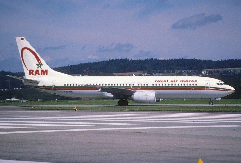 Boeing 737-8 de Royal Air Maroc.
